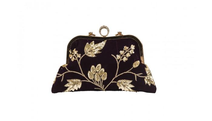 Enchanted Velvet Sequined Clutch