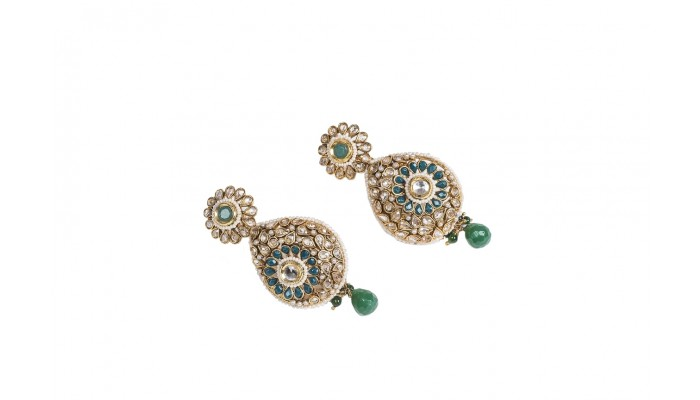 Emerald Evening Statement Earrings
