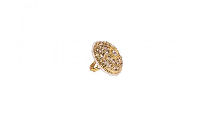 Gold & Quartz Raindrop Ring