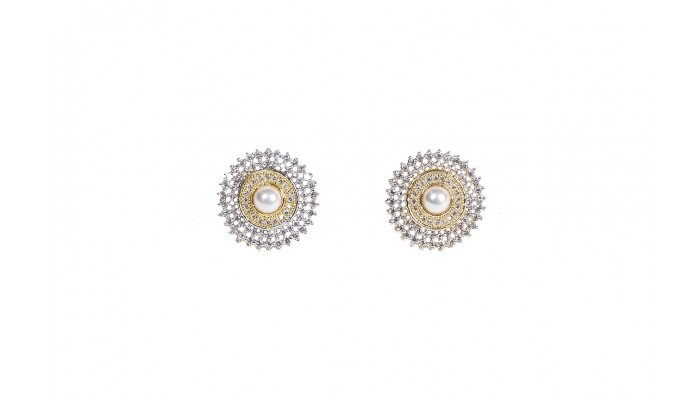 Pearl Sunrise Stud Earrings