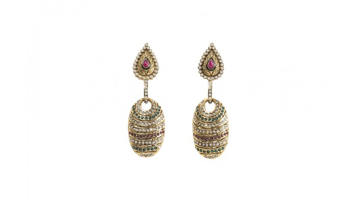 Brilliant Tiered Crystal Earrings