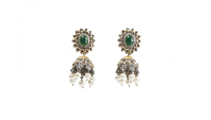 Emerald Eyes Jhumkas
